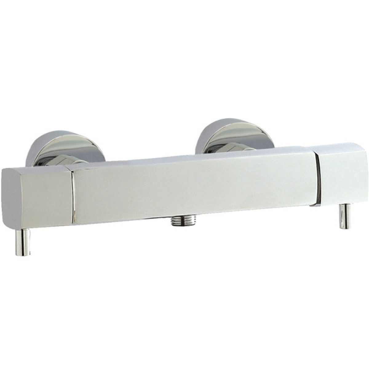 Hudson Reed Minimalist Quadro Bottom Thermostatic Bar Shower Valve