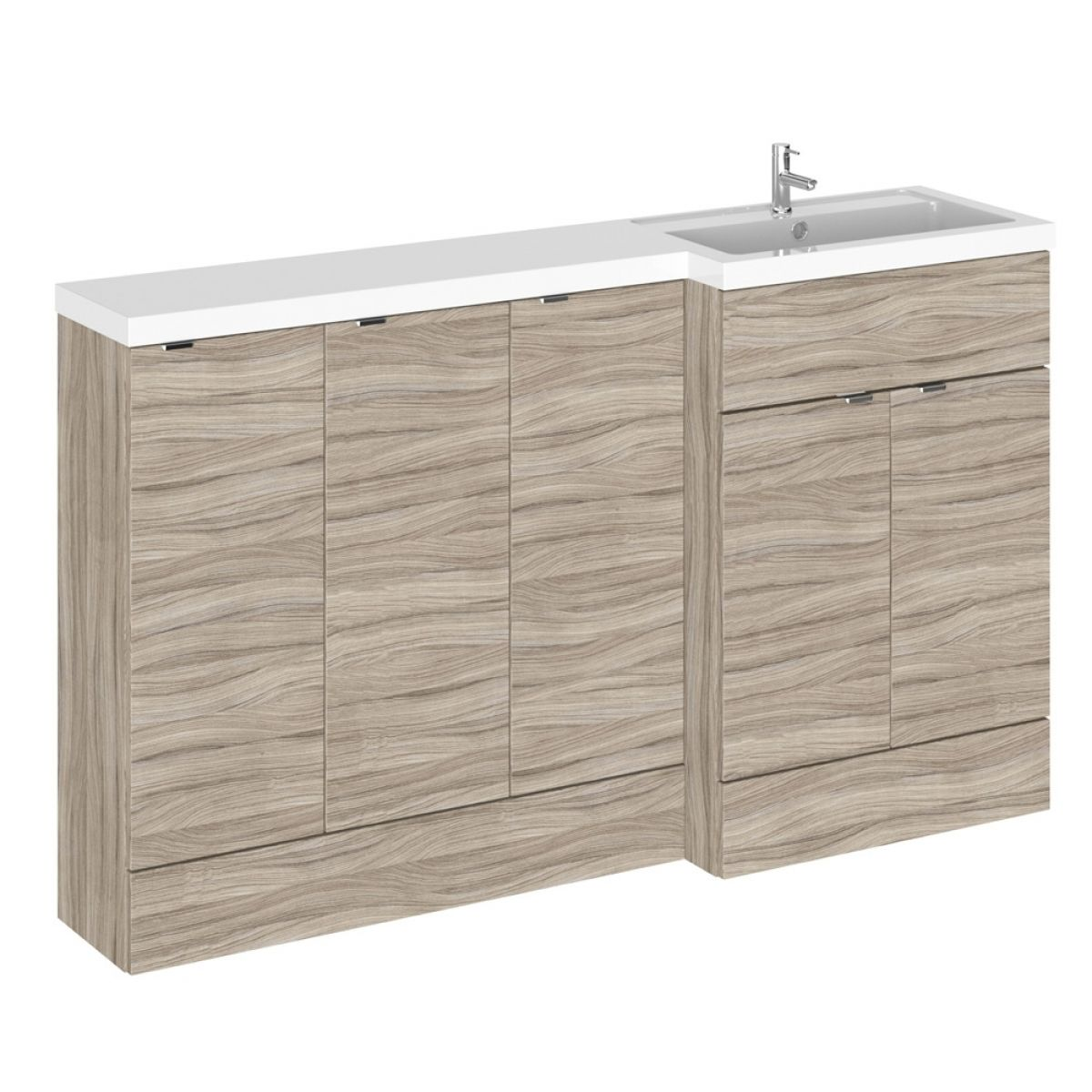 Hudson Reed Fusion Driftwood Full Depth Storage Furniture Pack 1500mm