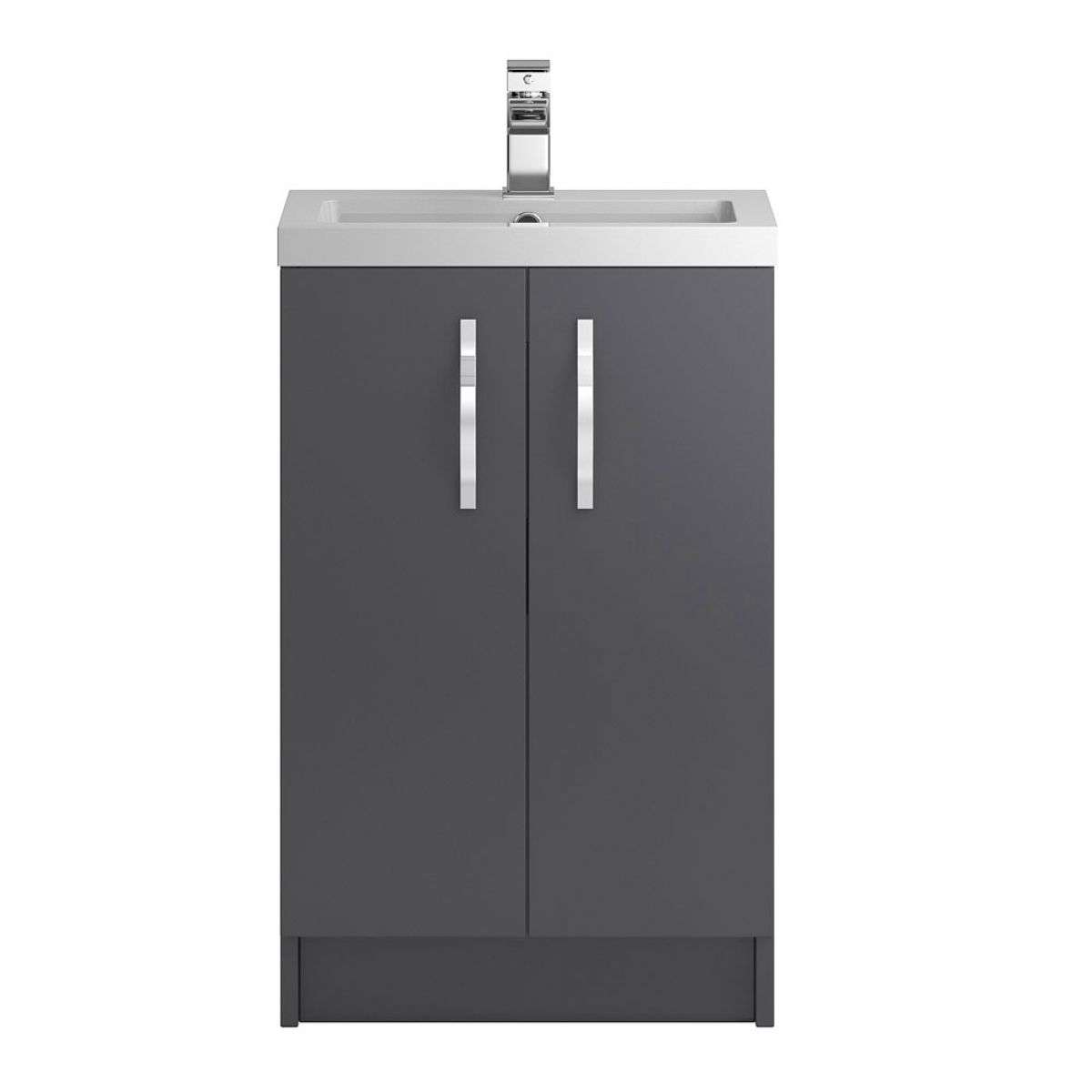 Hudson Reed Apollo Gloss Grey Floor Standing Vanity Unit 500mm