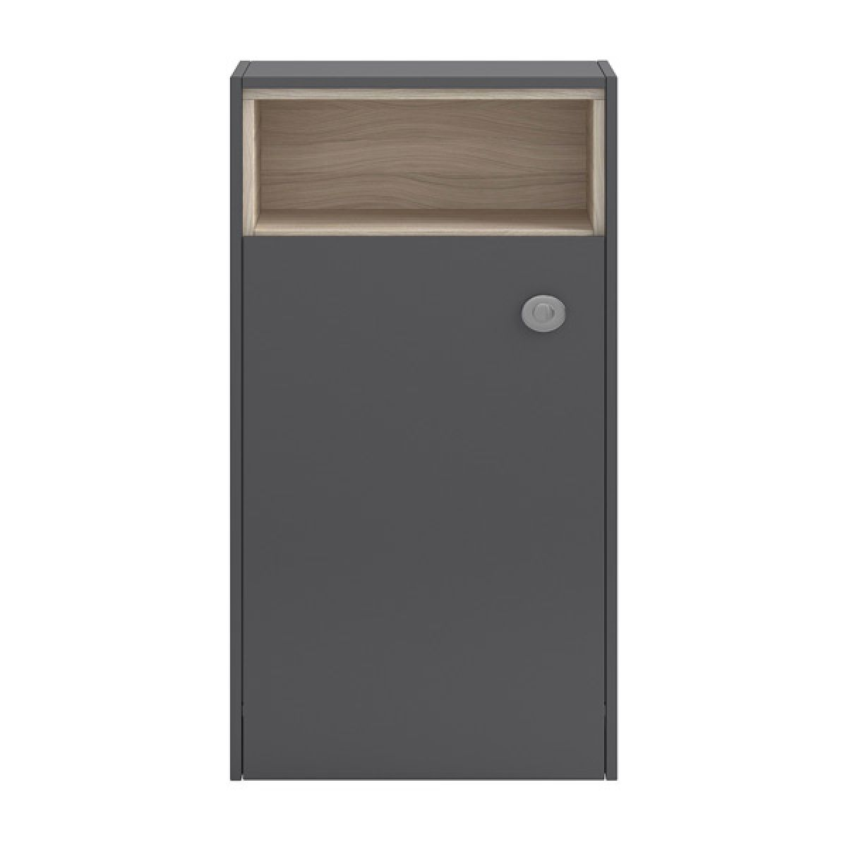 Hudson Reed Coast Grey Gloss Open Shelf WC Unit