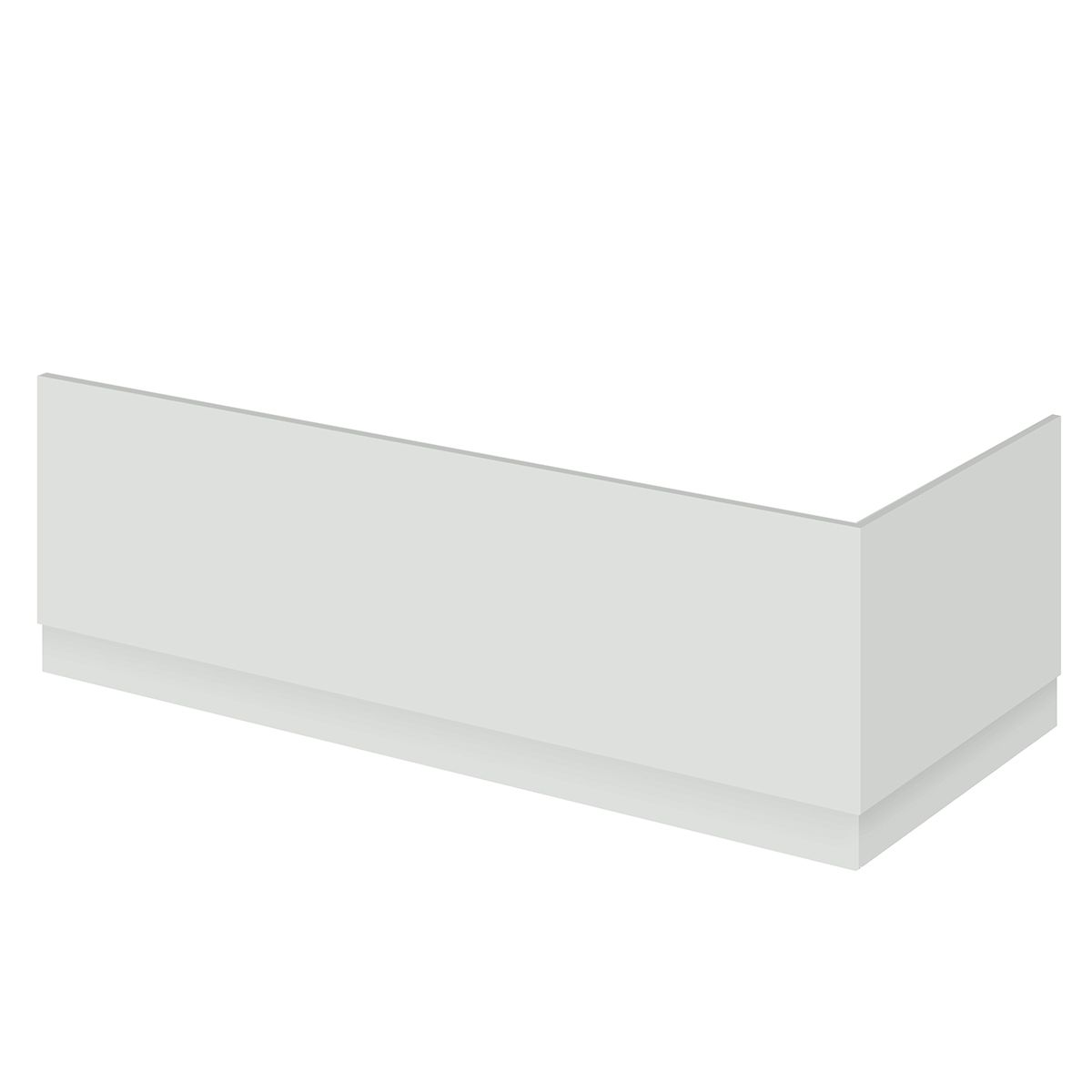 Hudson Reed Fusion Gloss Grey Mist Bath End Panel 800mm
