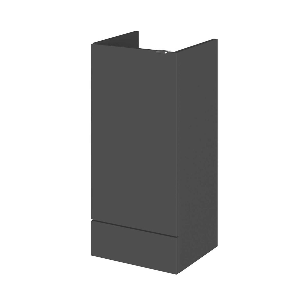 Hudson Reed Fusion Gloss Grey Storage Unit 400mm