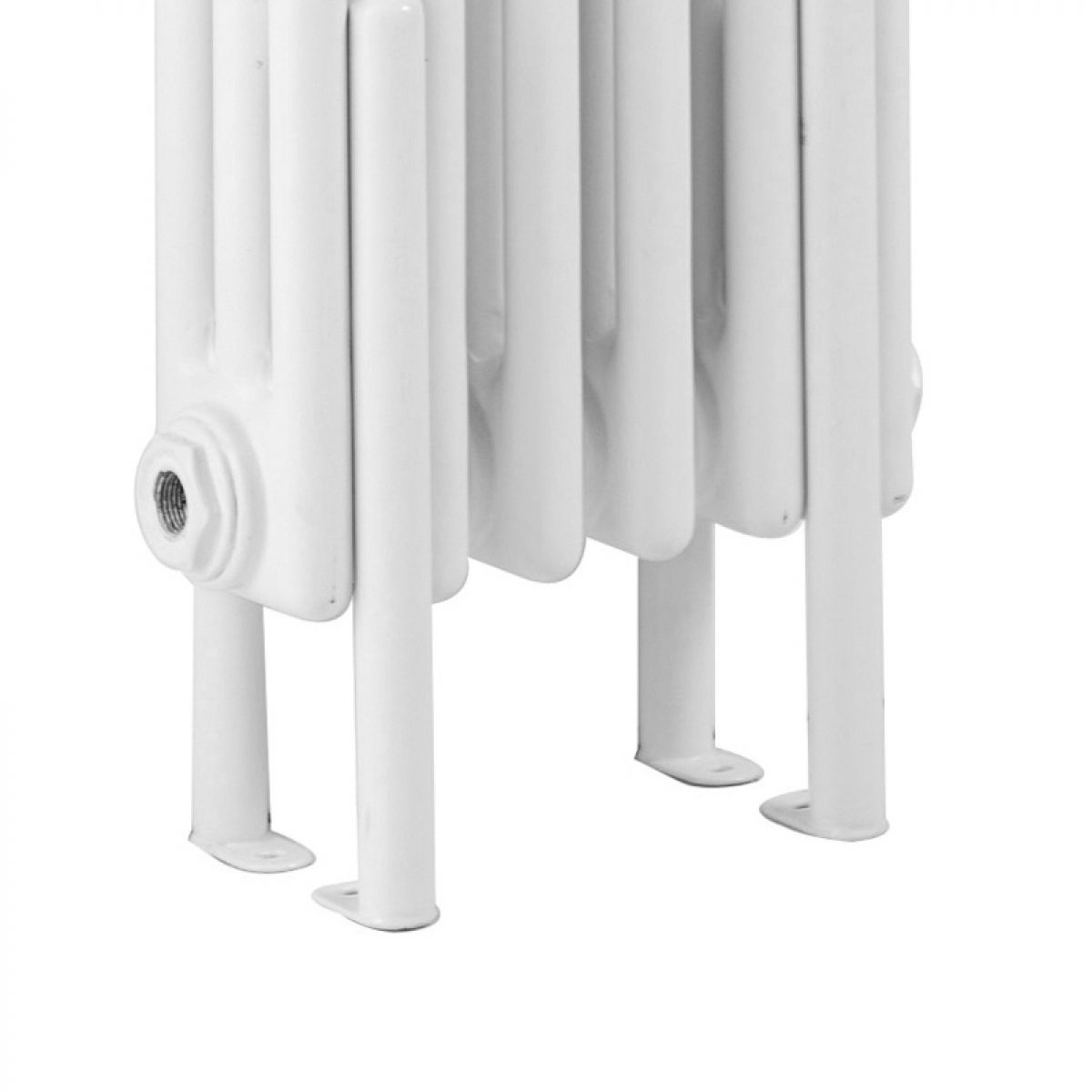 Hudson Reed White Colosseum Designer Radiator Floor Mounting Kit