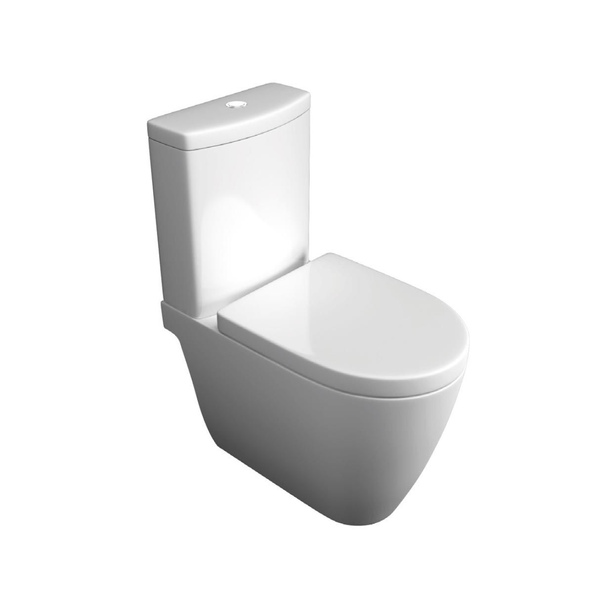 Kartell K-VIT Genoa Close Coupled Toilet with Slim D Wrapover Seat (UF)