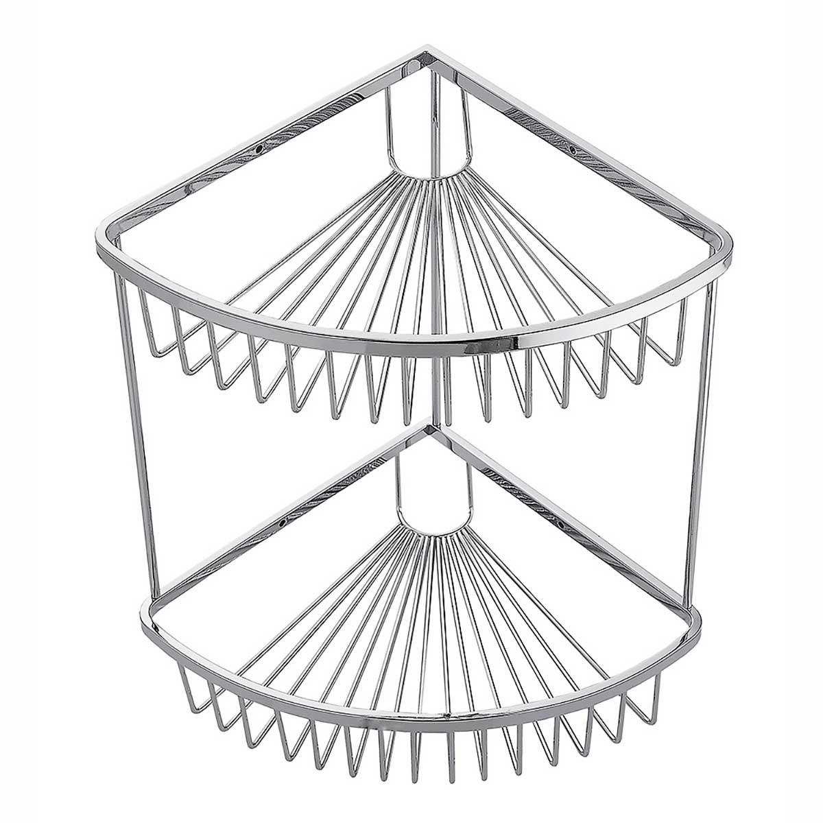 Kartell K-vit Silver Wire Work Double Corner Basket