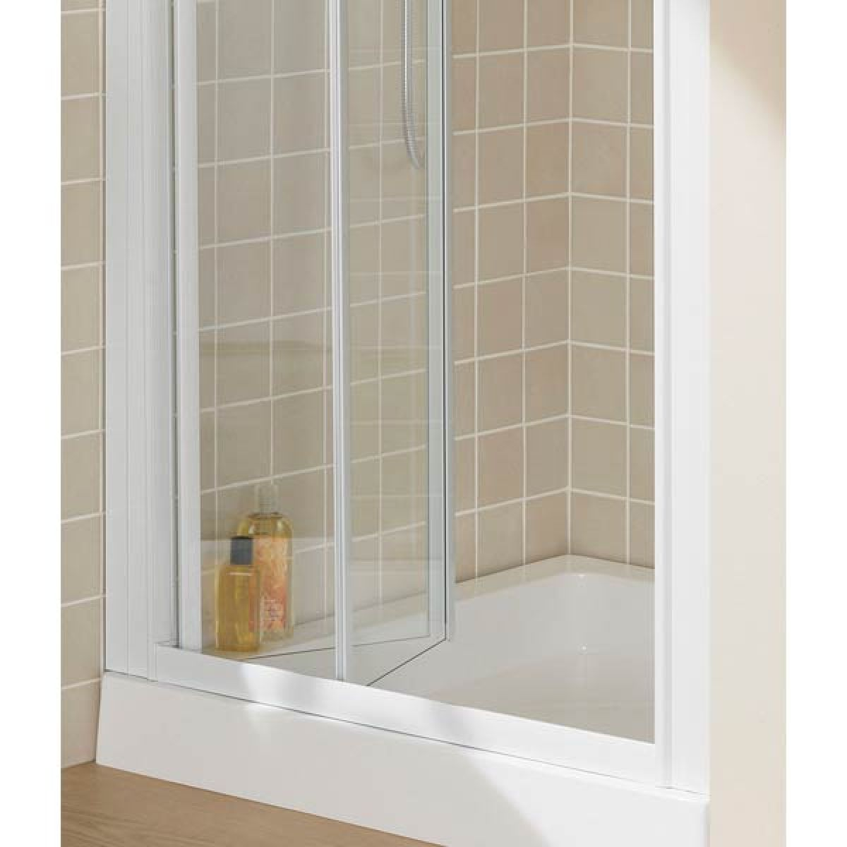 Lakes Semi-Framless Bi-Fold Shower Door with Optional Side Panels