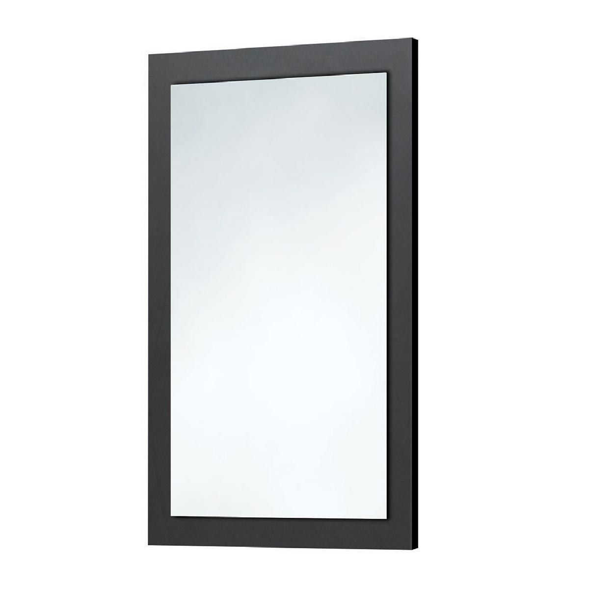 Manhattan Wood Frame Matt Grey Mirror 500x800mm