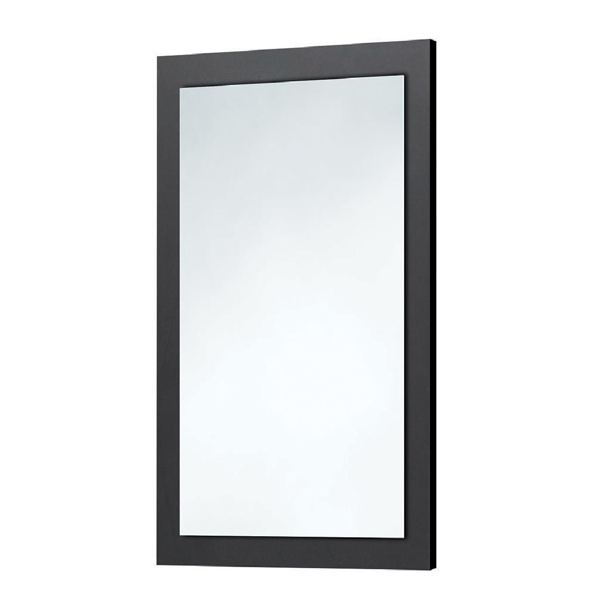Manhattan Wood Frame Matt Grey Mirror 600x900mm