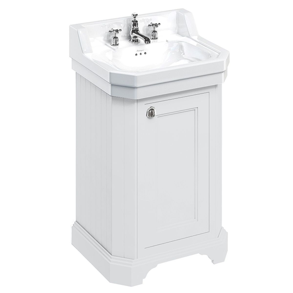 Burlington Matt White Cloakroom Vanity Unit 560mm