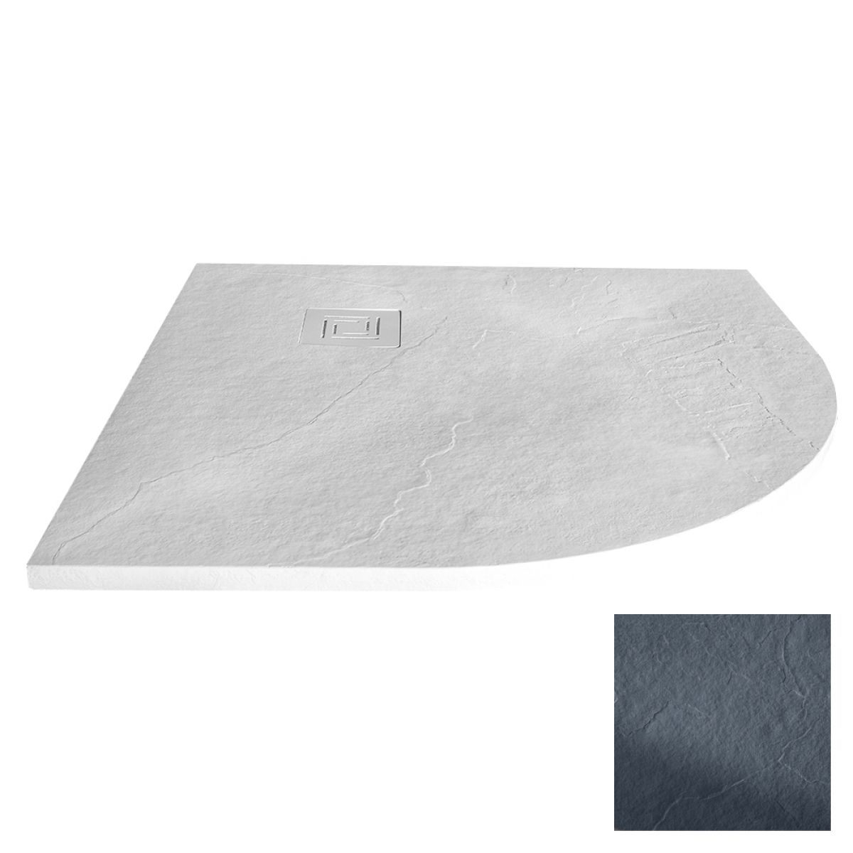 Merlyn Truestone Slate Black Quadrant Shower Tray 900 x 900mm