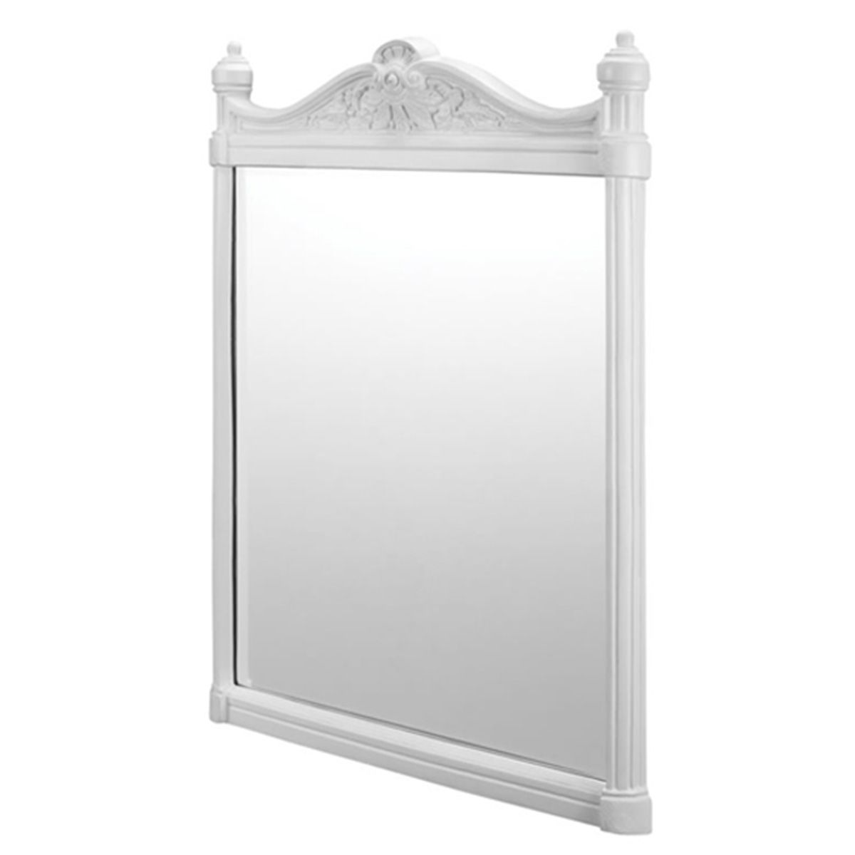 Burlington Mirror with White Aluminium Frame