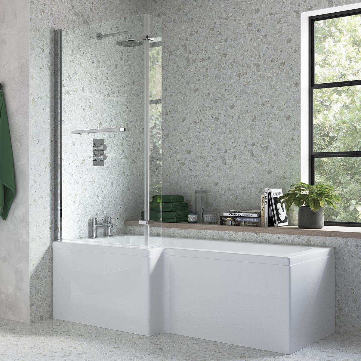 Moods Solarna L Shape Shower Bath Pack