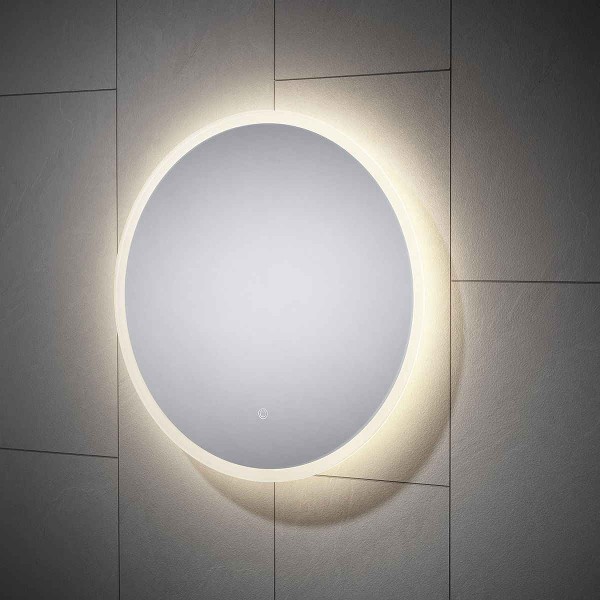 Moods Enza Round LED Bathroom Mirror 600
