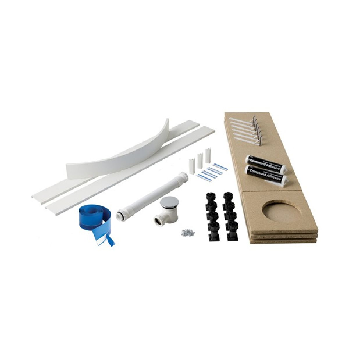 MX Universal Easy Plumb Kit for 50mm Waste