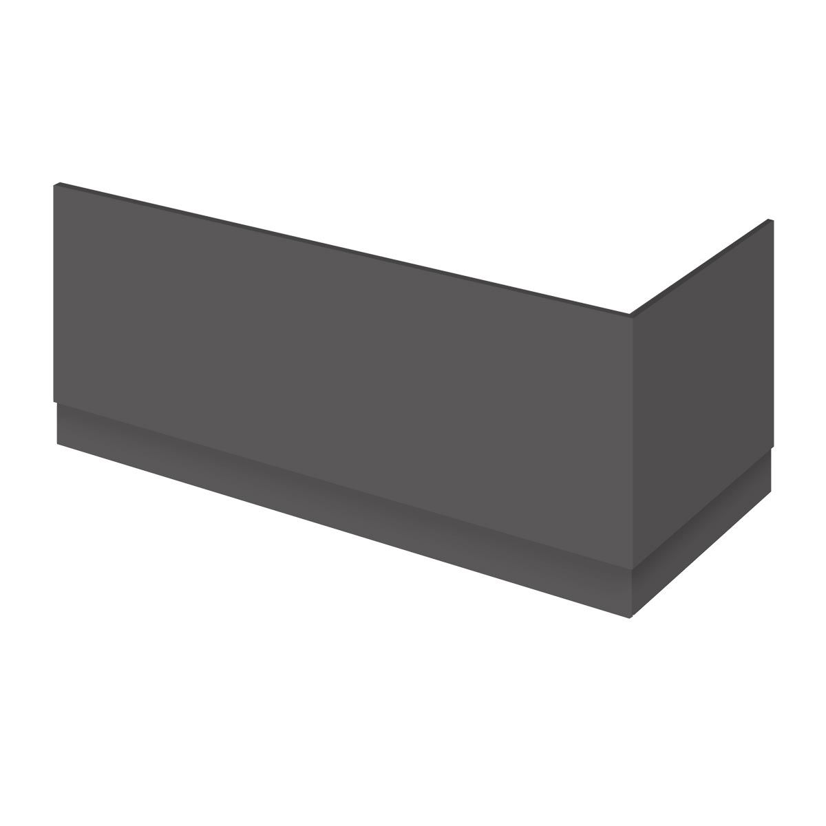 Nuie Athena Gloss Grey Front Bath Panel 1800mm