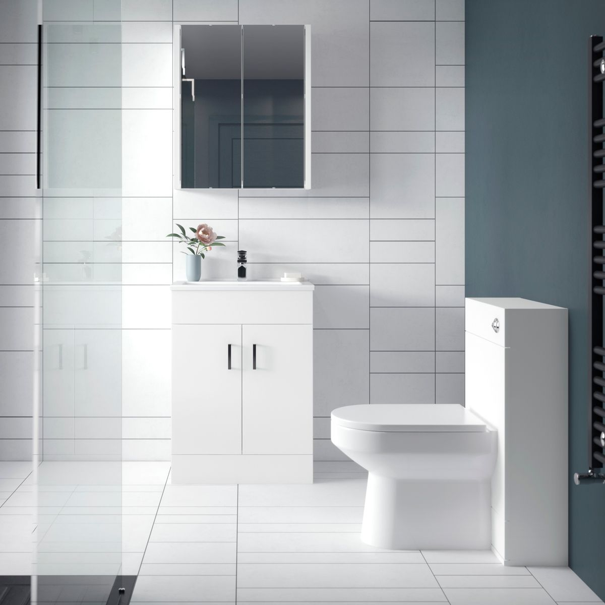 Nuie Eden Toilet and Sink Vanity Unit Set