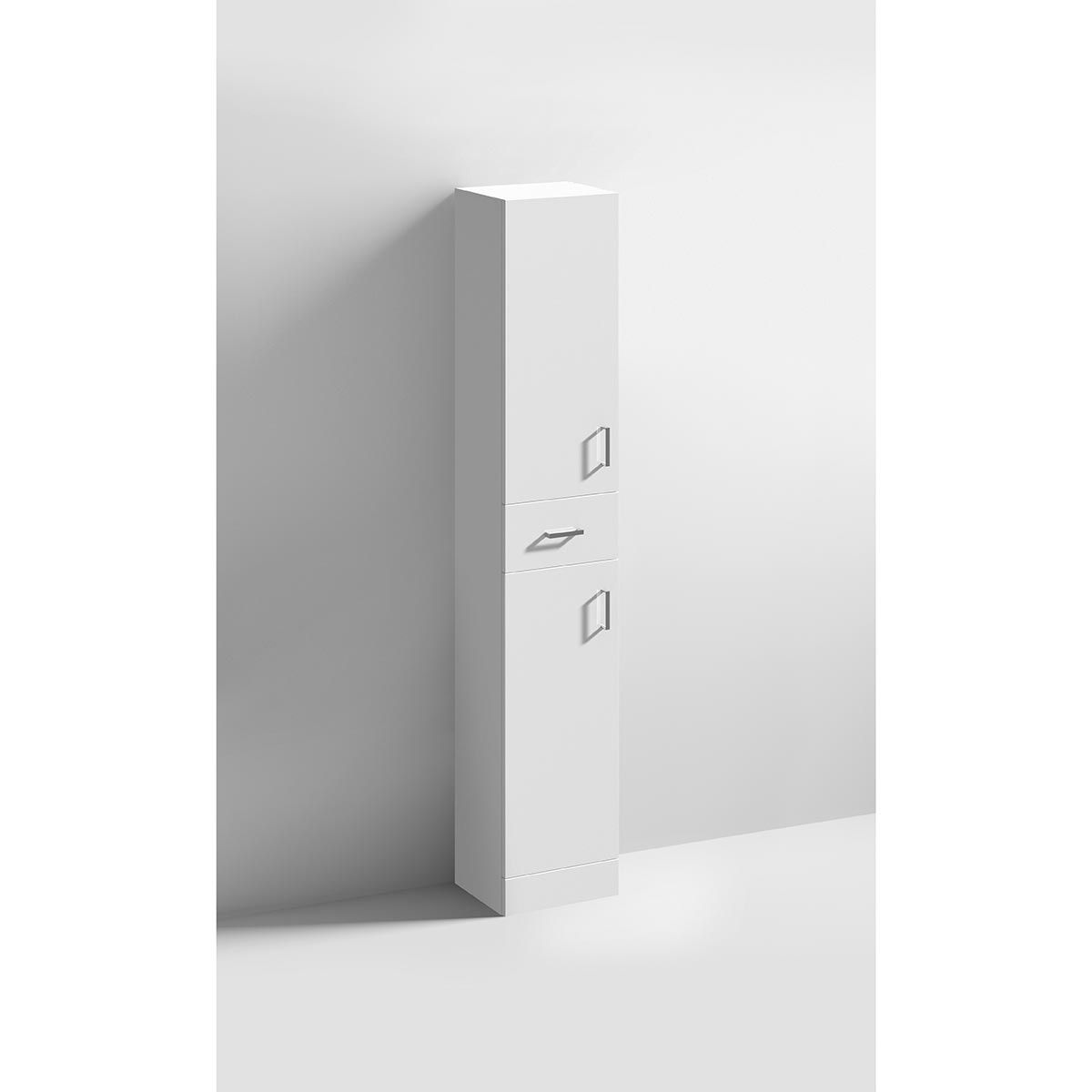 Nuie High Gloss White Tall Boy Storage Unit