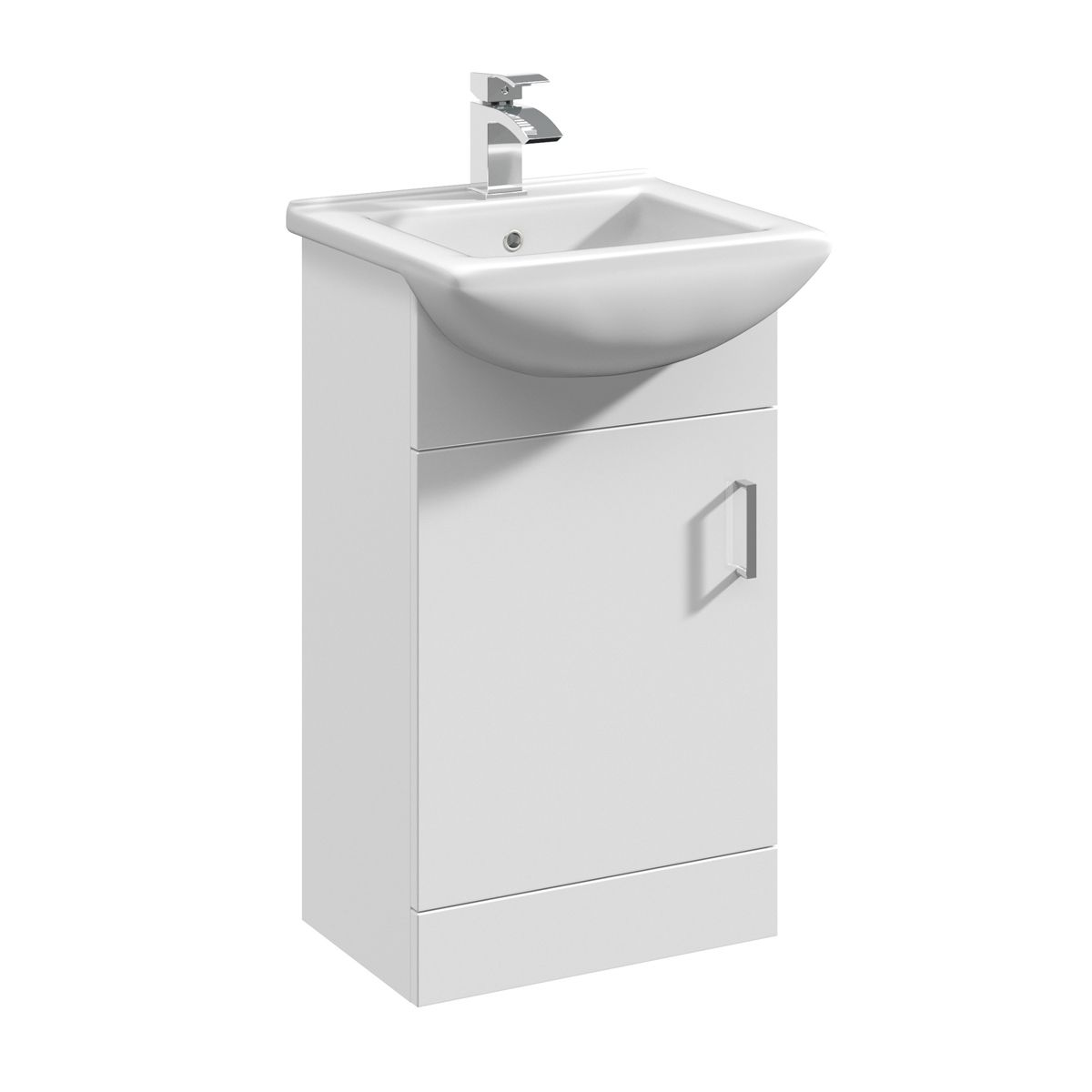 Nuie Deluxe High Gloss White Vanity Unit 450mm