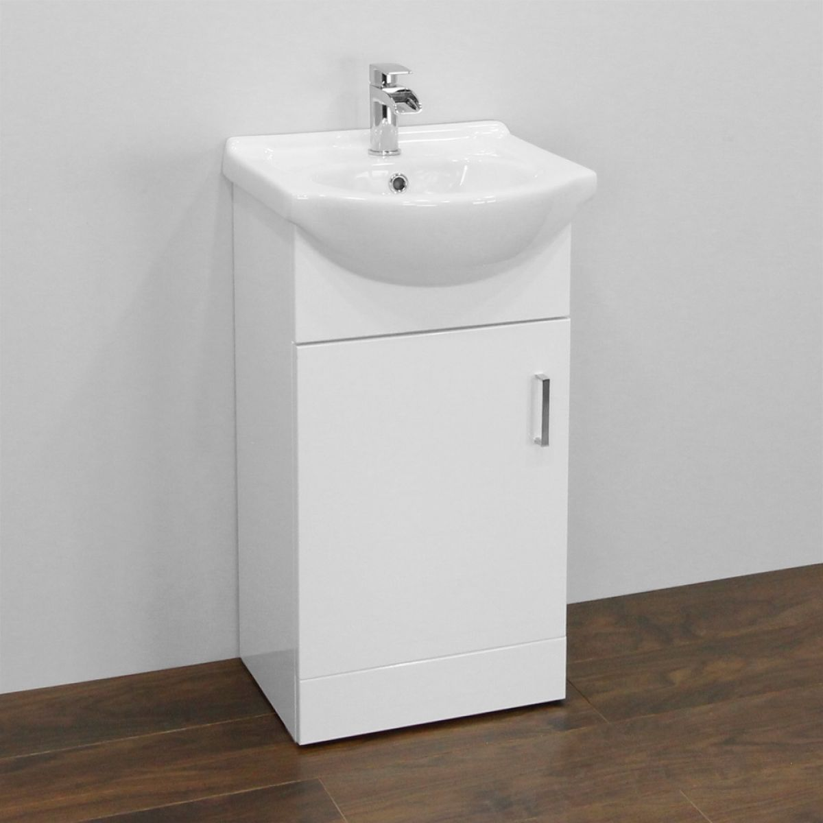 Premier High Gloss White Vanity Unit 450mm