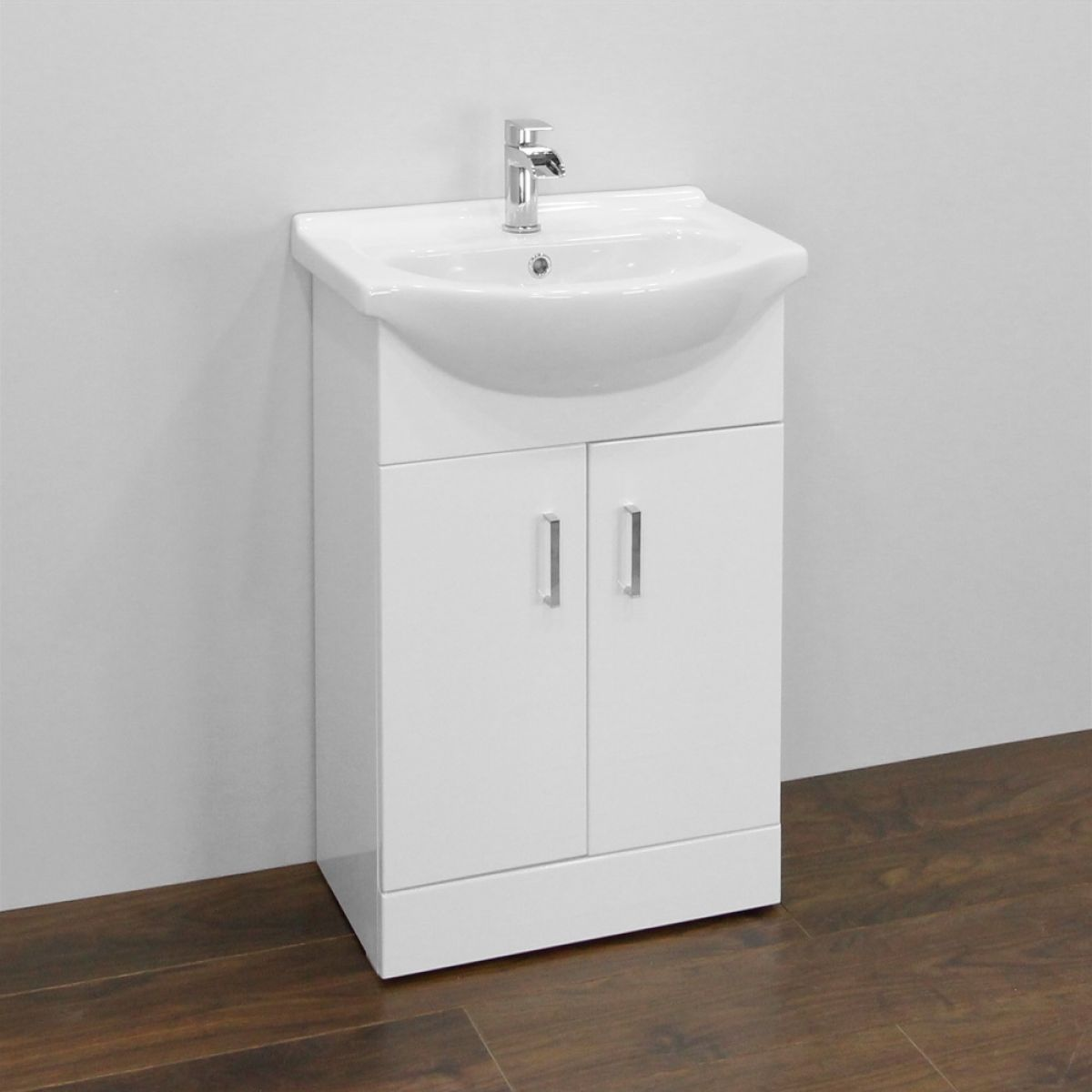 Premier High Gloss White Vanity Unit 550mm