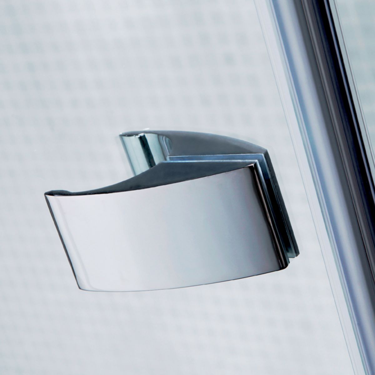 Prestige2 Frameless Hinged Shower Door with Optional Side Panel Detail 1