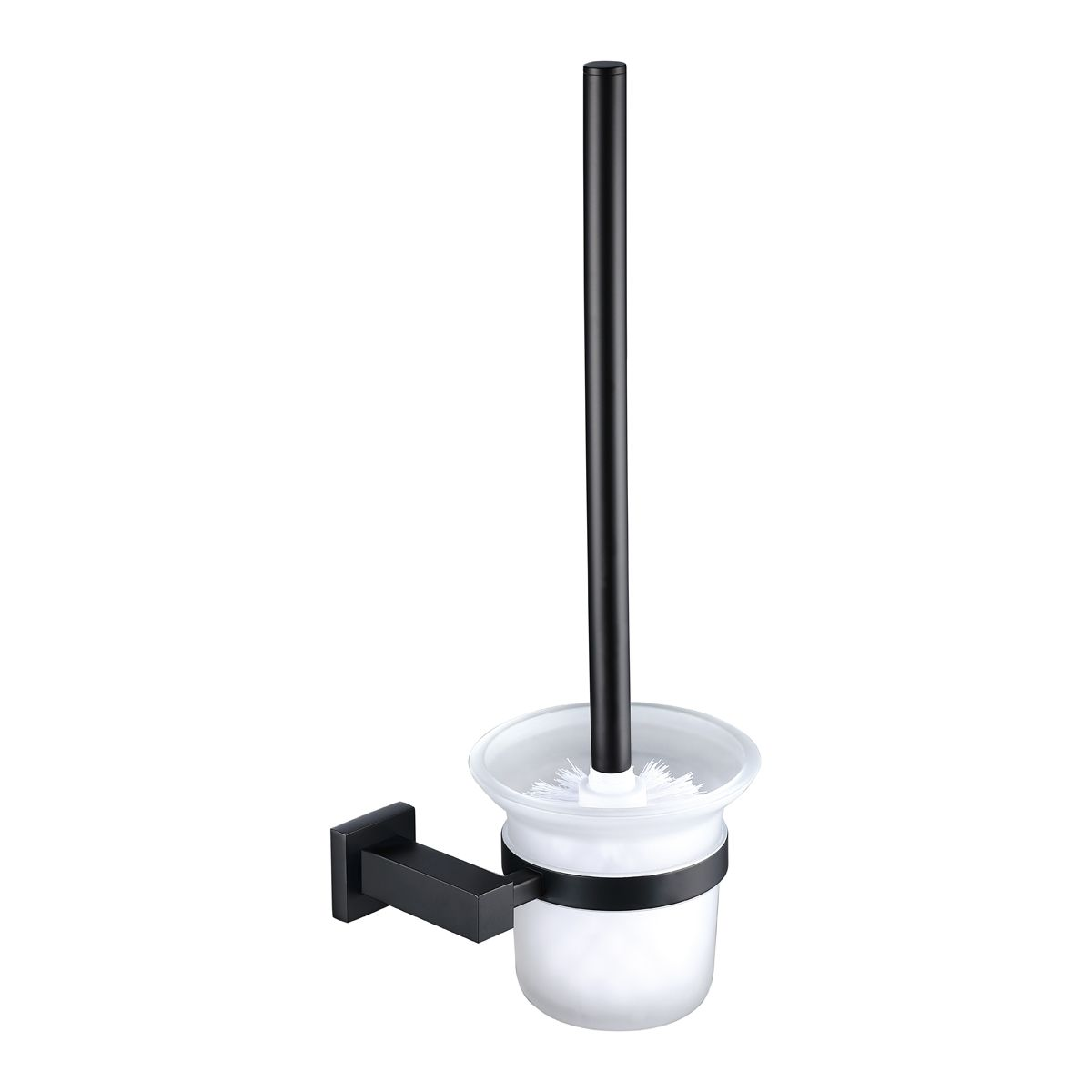 RAK Cubis Black Toilet Brush with Holder