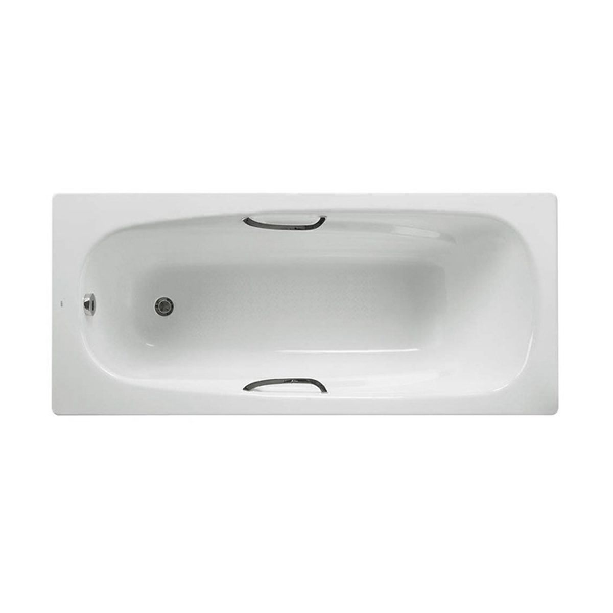Roca Carla Steel 2 Tap Hole Bath with Grips