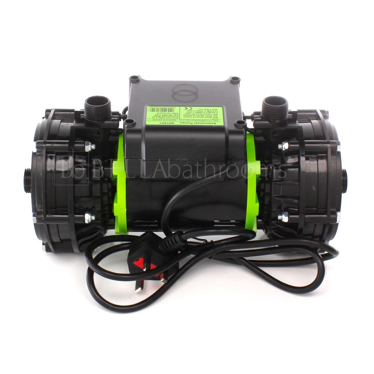 Salamander RP75PT 2.0 Bar Twin Positive Head Shower Pump Back