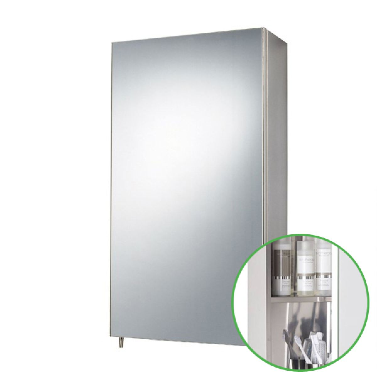 Zenith Stainless Steel Bathroom Cabinet Single Bathroom Mirror Cabinet Door