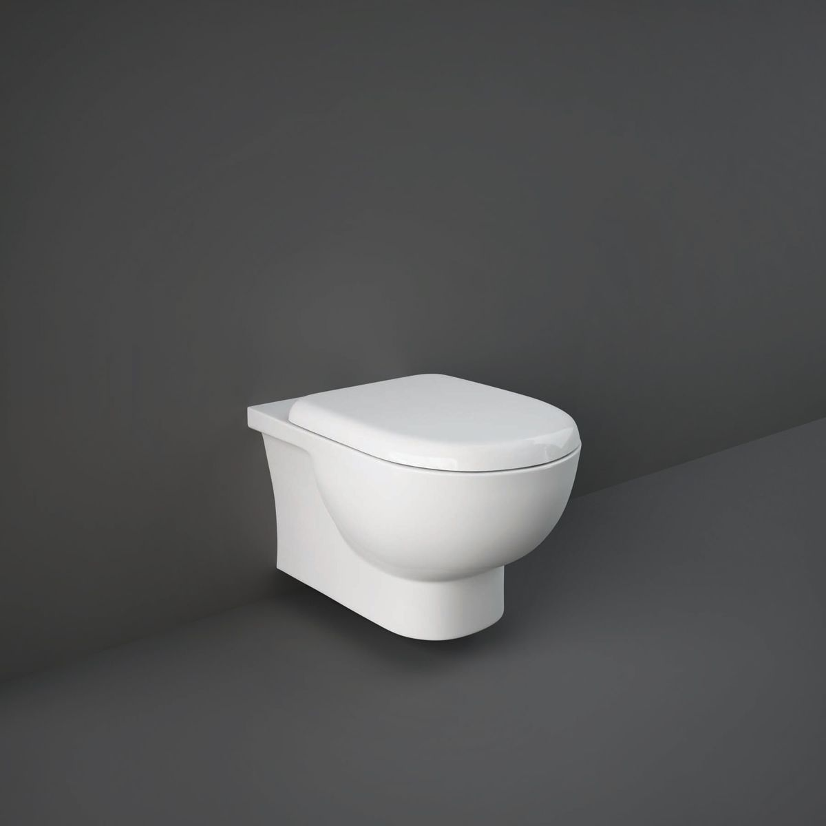 RAK Tonique Wall Hung Hidden Fixation Toilet with Soft Close Seat
