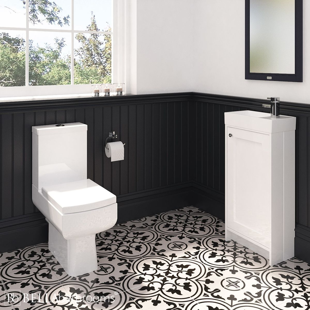 Traditional Vanity Unit and Daisy Lou Toilet Cloakroom Suite