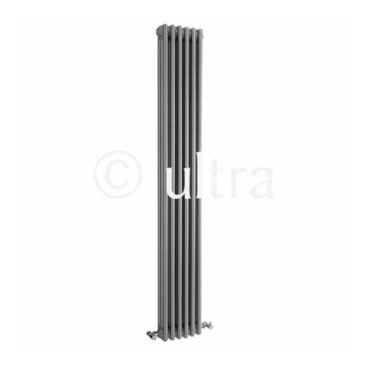 Ultra Colosseum High Gloss Silver Triple Column Designer Radiator - 1800 x 291mm
