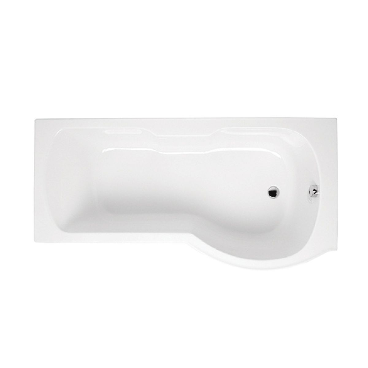 Vitra Optima P Shape Shower Bath 1700 x 700mm Right Hand