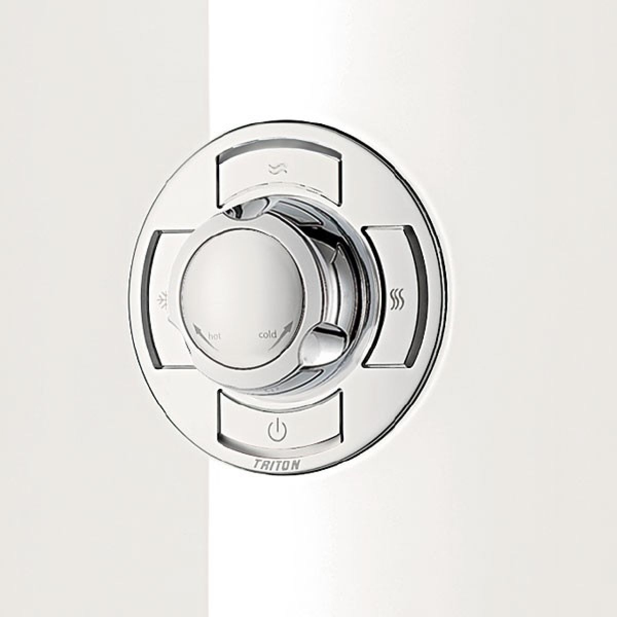 Triton Aspirante White Gloss Electric Shower Detail