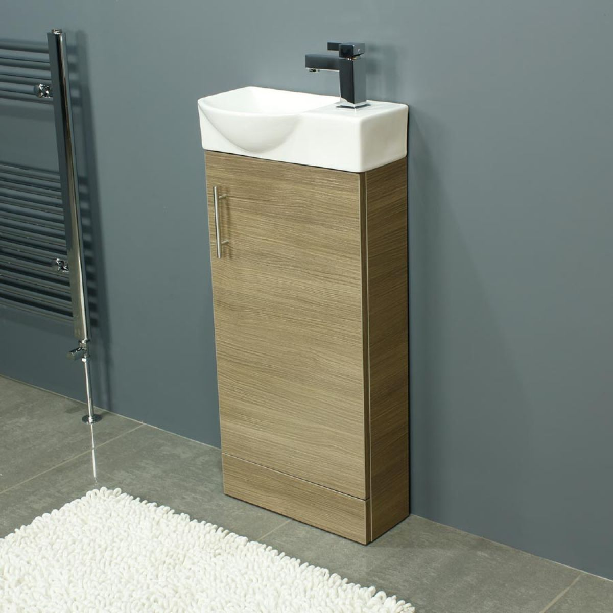Cassellie 400 Series Mini Medium Oak Single Door Vanity Unit
