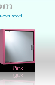 Croydex Pink Cabinet