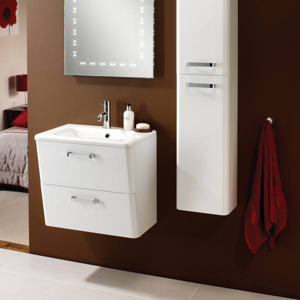 part of the hib palamas white bathroom furniture collection