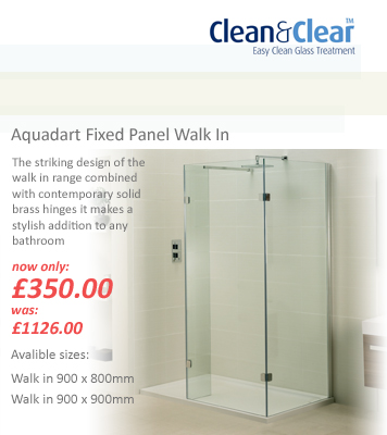 Aquadart Fixed Panel Walk In