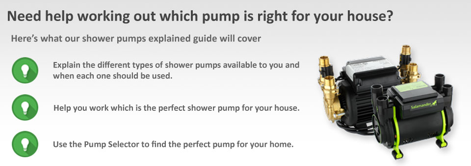 Shower Pumps Explained