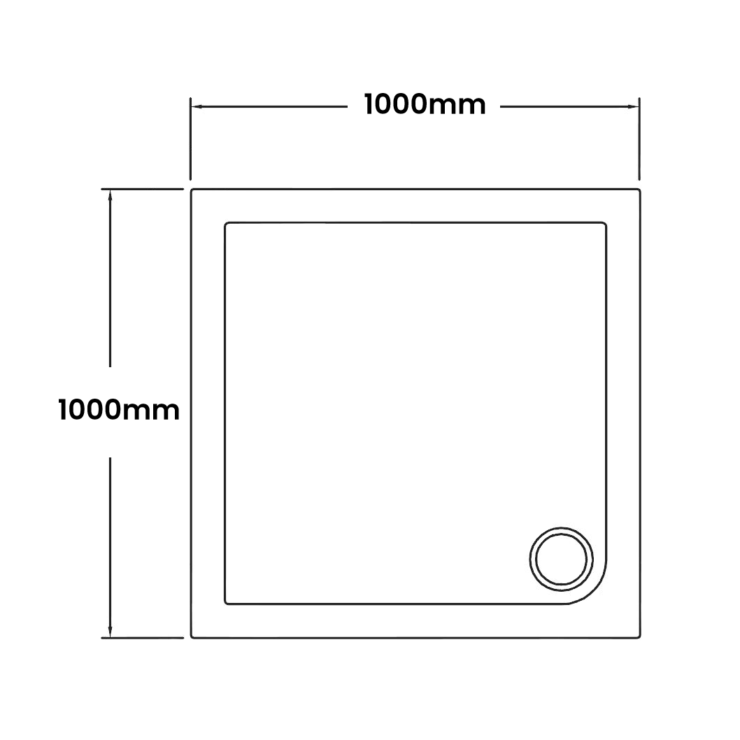 1000 x 1000 Shower Trays
