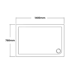 1400 x 760 Shower Trays