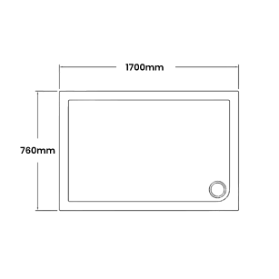 1700 x 760 Shower Trays