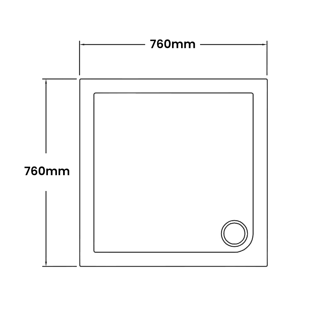 760 x 760 Shower Trays