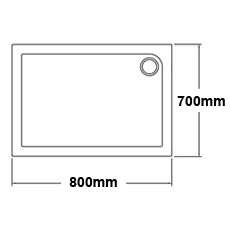 800 x 700 Shower Trays