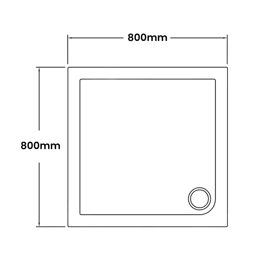 800 x 800 Shower Trays