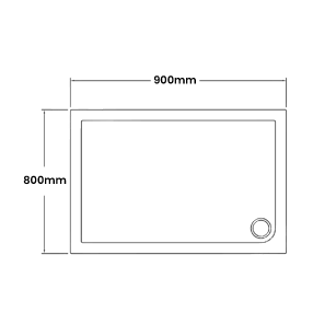 900 x 800 Shower Trays