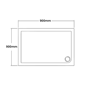 900 x 900 Shower Trays