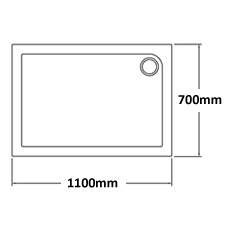 1100 x 700 Shower Trays
