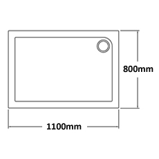 1100 x 800 Shower Trays