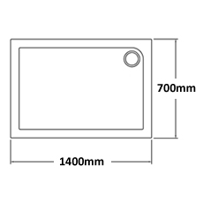 1400 x 700 Shower Trays